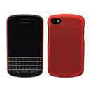 Custodia Blackberry Q10 Plastica Cover Rigida Guscio - Rosso