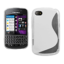 Custodia Blackberry Q10 S-Line Silicone Bumper - Bianco