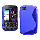 Custodia Blackberry Q10 S-Line Silicone Bumper - Blu