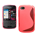 Custodia Blackberry Q10 S-Line Silicone Bumper - Rosso