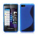 Custodia Blackberry Z10 S-Line Silicone Bumper - Blu