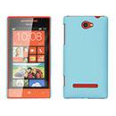 Custodia HTC 8S Windows Phone Plastica Cover Rigida Guscio - Blu
