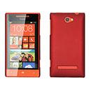 Custodia HTC 8S Windows Phone Plastica Cover Rigida Guscio - Rosso