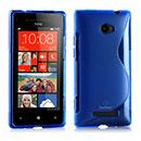 Custodia HTC 8X Windows Phone S-Line Silicone Bumper - Blu
