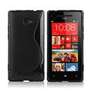 Custodia HTC 8X Windows Phone S-Line Silicone Bumper - Nero