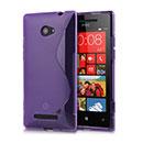 Custodia HTC 8X Windows Phone S-Line Silicone Bumper - Porpora