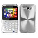 Custodia HTC Chacha G16 A810e Alluminio Metal Plated Cover - Bianco