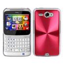Custodia HTC Chacha G16 A810e Alluminio Metal Plated Cover - Rosso