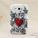 Custodia HTC Chacha G16 A810e Amore Silicone Case Astuccio - Nero