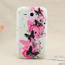 Custodia HTC Chacha G16 A810e Farfalla Silicone Gel Case - Nero