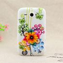 Custodia HTC Chacha G16 A810e Fiori Silicone Gel Case - Giallo