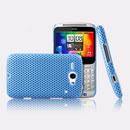 Custodia HTC Chacha G16 A810e Rete Cover Rigida Guscio - Luce Blu