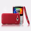 Custodia HTC Chacha G16 A810e Rete Cover Rigida Guscio - Rosso