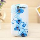 Custodia HTC Desire Bravo G7 A8181 Fiori Silicone Gel Case - Blu