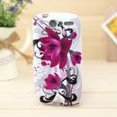 Custodia HTC Desire Bravo G7 A8181 Fiori Silicone Gel Case - Porpora