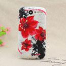 Custodia HTC Desire Bravo G7 A8181 Fiori Silicone Gel Case - Rosso