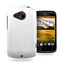 Custodia HTC Desire C A320e Plastica Cover Rigida Guscio - Bianco