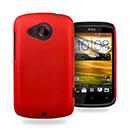Custodia HTC Desire C A320e Plastica Cover Rigida Guscio - Rosso