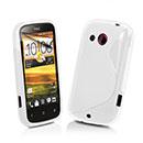 Custodia HTC Desire C A320e S-Line Silicone Bumper - Bianco