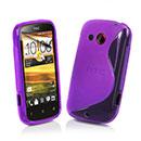 Custodia HTC Desire C A320e S-Line Silicone Bumper - Porpora