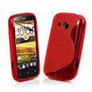 Custodia HTC Desire C A320e S-Line Silicone Bumper - Rosso