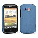 Custodia HTC Desire C A320e Sabbie Mobili Cover Bumper - Luce Blu