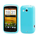 Custodia HTC Desire C A320e Silicone Case - Luce Blu