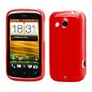 Custodia HTC Desire C A320e Silicone Case - Rosso