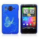 Custodia HTC Desire HD G10 A9191 Farfalla Plastica Cover Rigida - Blu