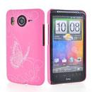 Custodia HTC Desire HD G10 A9191 Farfalla Plastica Cover Rigida - Rosa