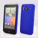 Custodia HTC Desire HD G10 A9191 Rete Cover Rigida Guscio - Blu