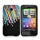 Custodia HTC Desire HD G10 A9191 Stars Silicone Gel Case - Nero