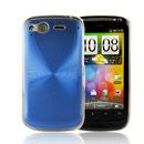 Custodia HTC Desire S G12 S510e Alluminio Metal Plated Cover - Blu