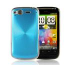 Custodia HTC Desire S G12 S510e Alluminio Metal Plated Cover - Luce Blu