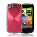 Custodia HTC Desire S G12 S510e Alluminio Metal Plated Cover - Rosso