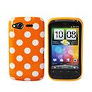 Custodia HTC Desire S G12 S510e Dot Silicone Bumper - Arancione