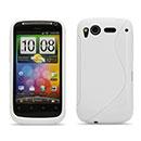 Custodia HTC Desire S G12 S510e S-Line Silicone Bumper - Bianco