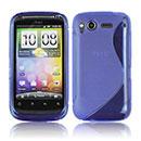 Custodia HTC Desire S G12 S510e S-Line Silicone Bumper - Blu