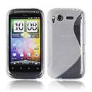 Custodia HTC Desire S G12 S510e S-Line Silicone Bumper - Clear