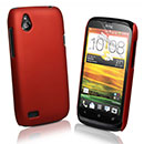 Custodia HTC Desire V T328W Plastica Cover Rigida Guscio - Rosso