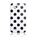 Custodia HTC Desire VC T328D Dot Silicone Bumper - Bianco