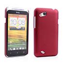 Custodia HTC Desire VC T328D Plastica Cover Rigida Guscio - Rosso