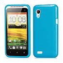 Custodia HTC Desire VT T328t Silicone Case - Luce Blu