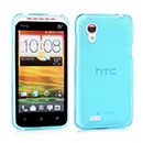 Custodia HTC Desire VT T328t Silicone Trasparente Case - Luce Blu