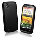 Custodia HTC Desire X T328e Plastica Cover Rigida Guscio - Nero