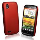 Custodia HTC Desire X T328e Plastica Cover Rigida Guscio - Rosso
