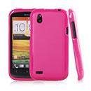 Custodia HTC Desire X T328e Silicone Case - Fucsia