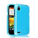 Custodia HTC Desire X T328e Silicone Case - Luce Blu