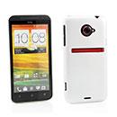 Custodia HTC EVO 4G LTE X720d Plastica Cover Rigida Guscio - Bianco