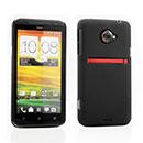 Custodia HTC EVO 4G LTE X720d Plastica Cover Rigida Guscio - Nero